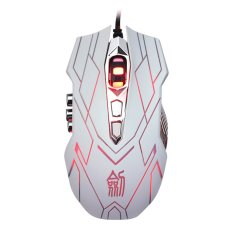 10.4000DPI Optical LED Wired Gaming Mouse For DotA FPS Laptop PC White- Intl