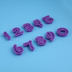 10pcs Arabic Numerals Shapes Cookies Cutter Decorate Cake Biscuit Fondant Sugercraft DIY Mold Set - Intl