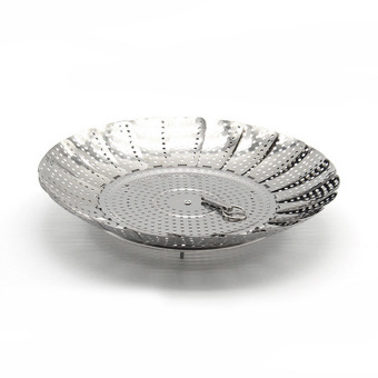 ... 11 Inch Stainless Steel Vegetable Steamer Scaling Drawer Food Egg Food Egg Poacher Steaming Folding Mesh