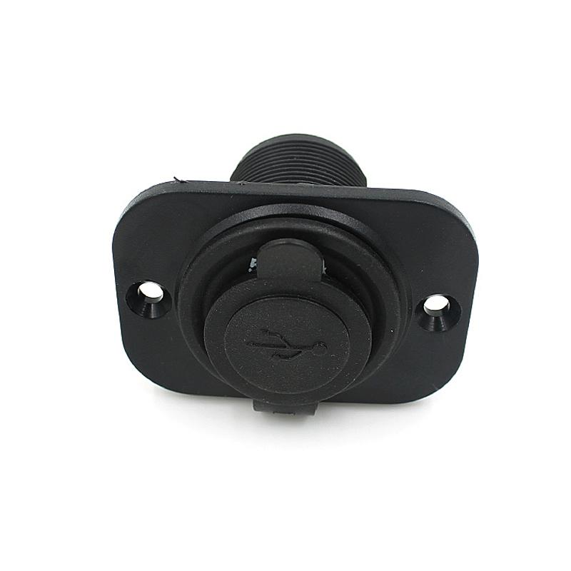 12V Car Cigarette Lighter Socket Splitter Dual USB Charger Power Adapter Black (Intl)