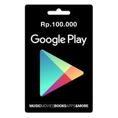 Google Play Gift Card Region Indonesia - 100.000