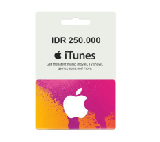 iTunes Gift Card Indonesia - 250.000