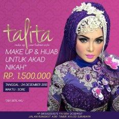 Talita Boutique & Wedding Service Paket Make Up & Hijab Untuk Akad Nikah 24 Desember 2015 Sore - Khusus Wilayah Surabaya