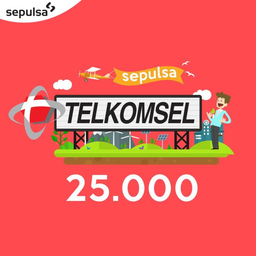 Telkomsel Pulsa 25.000 (Max. 1 kali Pembelian Per Nomor Handphone)