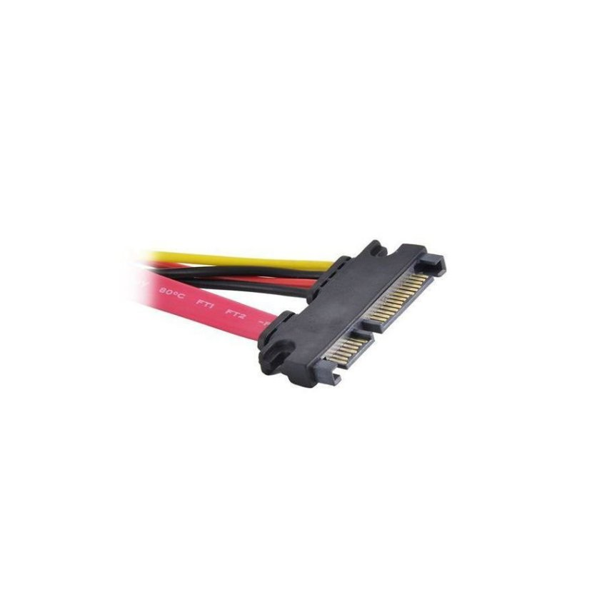 15 7 Pin Male to Female SATA Data Power Cable