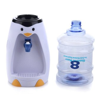 2.5 Liters Table Drinking Fountains Penguin Style Mini Water Dispenser - intl