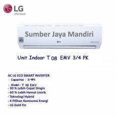 Ac LG Split Inverter T08EMV 3/4PK- Putih Khusus Jakarta