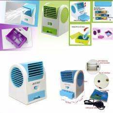 AC Portable Mini - DOUBLE WINDOW KIPAS ANGIN DUDUK / MEJA / USB / MINI HANDHELD AC