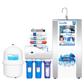 AQUALIFE Water Purifier Cabinet Dispenser 9 Stage 100 GPD Filter Saringan Air Langsung Minum Reverse Osmosis RO - Putih