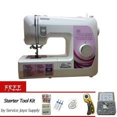 Brother GS 2500 Mesin Jahit Portable - Putih + Gratis Starter Kit SJS