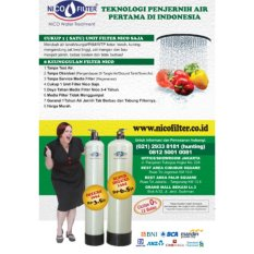 Filter Air Nico - Penjernih Air Sumur - Penyaring Zat Besi Tiggi - Saringan Air