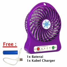 ... Fan 3 Speed + Kabel Charger. Source · Glow shop - Kipas Angin Power Bank Mini Portable - Free Baterai Dan Kabel USB