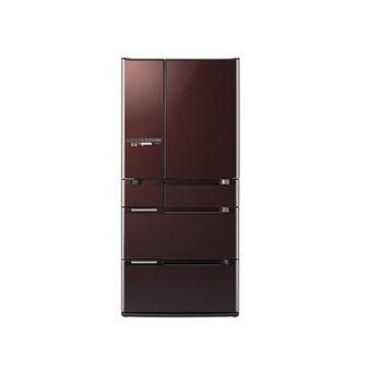 Hitachi Kulkas 6 Doors Made In Japan R-E6800N XT - Crystal Brown - Khusus Area Jadetabek