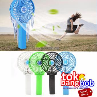 Kipas Bee Handy Mini Fan Lipat Portable Rechargeable Quality Brand - Hitam