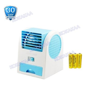 Kokakaa Mini AC Cooling Fan Portable Baterry Bundle - Biru