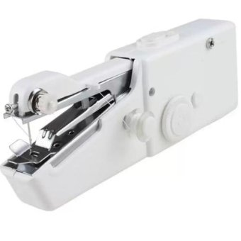 Mesin Jahit Tangan Portable - Handheld Sewing Machine (White)