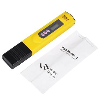 New LCD Water Quality Testing Pen Purity Filter TDS Meter Tester 0-9990 PPM Temp Yellow - intl