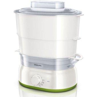 Philips HD9104 Pemanas / Penghangat makanan / Food / Daily Steamer - Silver-Hijau