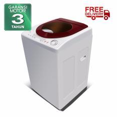 POLYTRON Mesin Cuci 1 Tabung ZEROMATIC MAYA 9,5kg PAW 9511WM - Putih Maroon - Khusus Jabodetabek