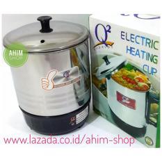Q2 New Series 15cm Pemanas Air Mug Teko Panci Listrik Stainless Steel - Electric Heating Cup 190W