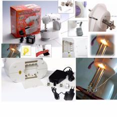 S2 Mesin Jahit Portable 4 In 1 Dengan Lampu / Mini Sewing Machine With Lamp, Pedal & Adaptor - Putih