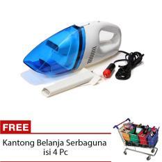 StarHome Vakum Cleaner Mobil - Portable Car Vacum Cleaner - Putih + Free Kantong Belanja Serbaguna isi 4 Pc