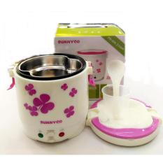Sunnyco Mini Rice Cooker , Magic Jar , Magic Com ,Penanak Nasi 1.0 Liter - Warna Random