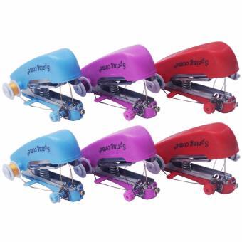 Tope Paket 6 Buah Mesin Jahit Mini Handheld Sewing Machine (Multicolor)