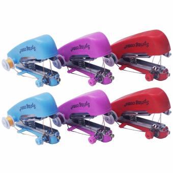 Yangunik Paket 6 Buah Mesin Jahit Mini Handheld Sewing Machine (Multicolor)