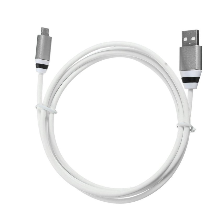 150cm Metal Cord Micro USB High-speed Rapid Transmission Charge Data Sync Cable 5 Pin (Silver) (Intl)