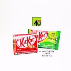 Kitkat 4F HALAL - Green Tea, Classic - Paket 4 pack