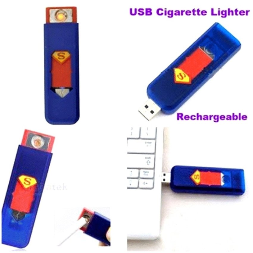 Korek Elektrik - Korek Api Lighter Usb Anti Angin - 1 Pcs