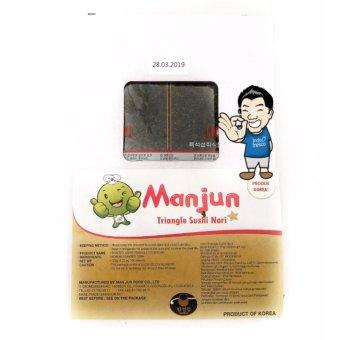 Manjun Triangle Onigiri Wrapper Nori- Rumput laut- Seaweed- 100lembar