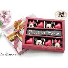 Trulychoco coklat love editions -BE MINE FOREVER - Tutup Mika Red
