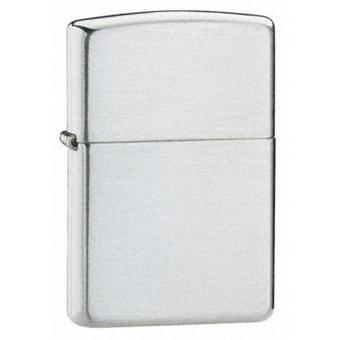Zippo Korek Api Regular Anti Angin Brushed Metal - Silver