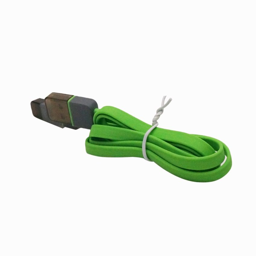 1m Square 2in1 Micro USB Charging and Data Transfer Cable and 8 Pin Adapter For Phone 6 6 Plus 5 5S iPad Mini HTC Samsung Sony (Green) (Intl)