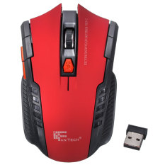 2.4Ghz Mini portable Wireless Optical Gaming Mouse Mice For PC Laptop Red