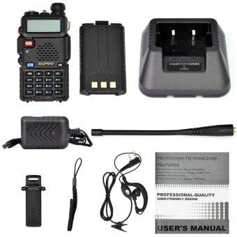 """2-Pack Baofeng Black UV-5R V2 + Dual-Band 136-174/400-520 MHz FM HAM"