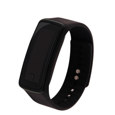 2 Pcs LED Watch 2015 Fashion Sport Digital Watch Silicone Running Bracelet Watch For Women Men Kids Wristwatch Relogio Feminino Clock (Black) - Intl