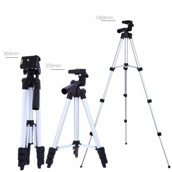 1.3 Meters Portable Camera Tripod Camera Fishing Lamp Tripods For Outdoor Night Fishing Photography (Silver)
