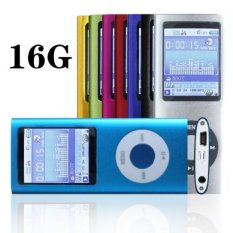 """1.78"""" LCD Mp3 Mp4 Player with 16G Memory Card and Accessories-Blue Color (Intl)"""