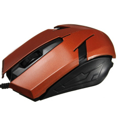 1200 DPI ASB Standard USB 3 Buttons Wired Mouse (Brown)