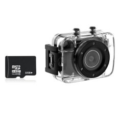 123.2.0-inch Touch Screen 10M Waterproof Sports Digital Camera DV Camcorder with 16GB Micro SD TF Card (Black)