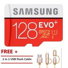 128GB 128G Memory Card Micro SD SDHC SDXC TF80M Grade EVO+ Class 10 Micro SD C10 UHS TF Trans Flash Microsd+Free 2 in 1 USB Flash Cable - intl