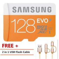 128GB 128GB SDXC Micro SD Card Class 10 Flash Memory Card for Smartphone Camera MP3+Free 2 in 1 USB Flash Cable - intl