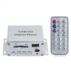 12V Mini Reader Module MP3 Music Player with Remote Control (Intl)