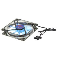 15 Light CPU Cooling Fan Computer PC Clear Case Quad 12CM Heatsink Blue