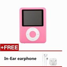 1.8 Inch LCD Screen 8GB Mp3 / Mp4 Music Radio Movie Player (Pink) - Intl
