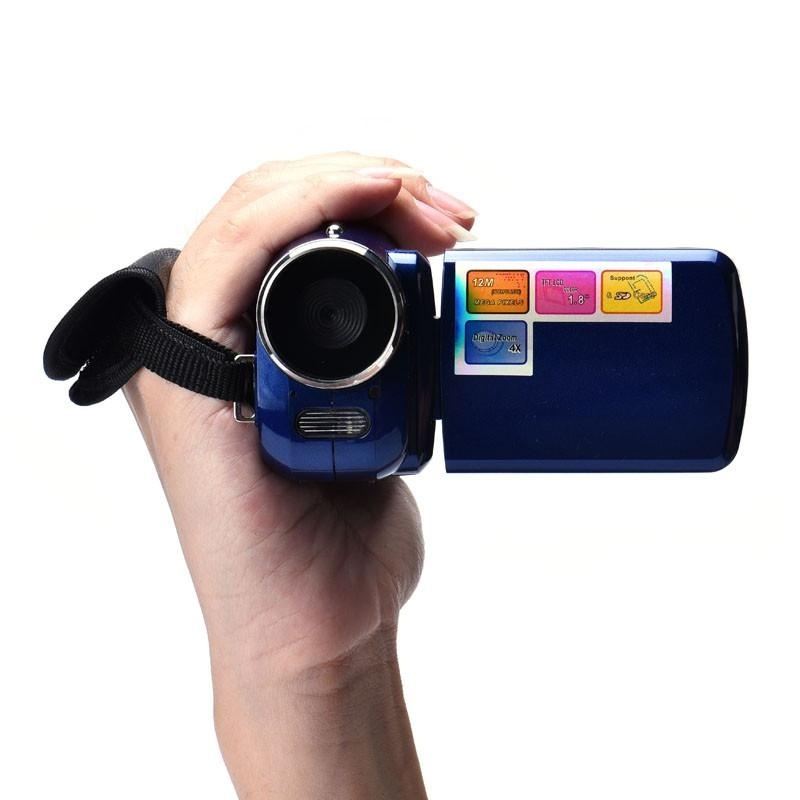 1.8 Inch TFT 4X Digital Zoom Mini Video Camera Blue - intl