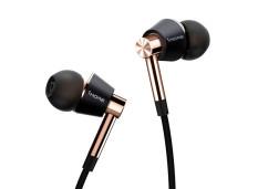 1More Triple Driver In-Ear Headphones Black / Gold + Gratis 1More Piston Fit In-Ear Earphone (Multicolor)